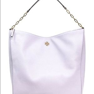 NWT Tory Burch Carter Slouchy Hobo in Pale Violet